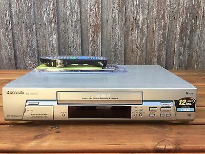 Serviced Panasonic NV-SJ400 Video Recorder Player + REMOTE VHS Player VCR