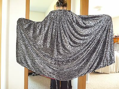 Silver cape, vine pattern/red lining; Thranduil costume cosplay LotR renaissance