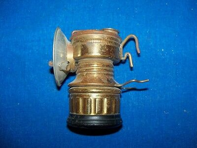 Antique Guys Dropper Brass Coal Mine Mining Carbide Lamp Light Never Used