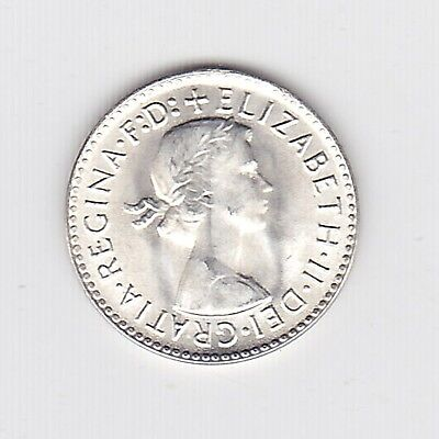 1963 (Unc) Elizii Aust Threepence (50% Silver) - Brilliant Coin From Mint Roll