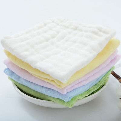 12-layer Infant Newborn Baby Kids Cotton Washed Gauze Handkerchief Baby Nappy