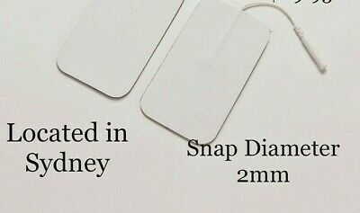 TENS Machine Massagers Replacement Electrode Pads Self-Adhesive 9x5cm Snap 2mm