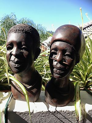 African Wooden Carved Heads