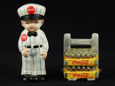 Coca Cola Delivery Man with Coke SALT & PEPPER SHAKERS