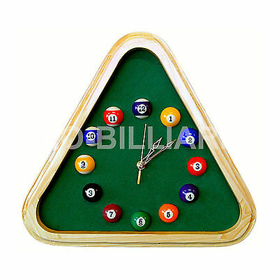 Triangle Clock for Game Room Decoration Billiards Pool Table Gift  AU