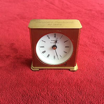 Tiffany and Co. Quartz Clock, Movement Made in Germany WOKRS