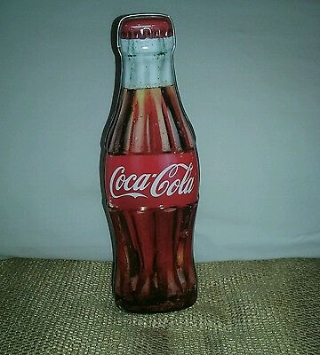 BANK . COCA-COLA TIN BOTTLE Top Opening NEW!  Gift or Collectors Item