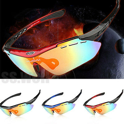5 Lens Polarized Cycling Glasses Bike Outdoor Sports Bicycle Sunglasses Goggles