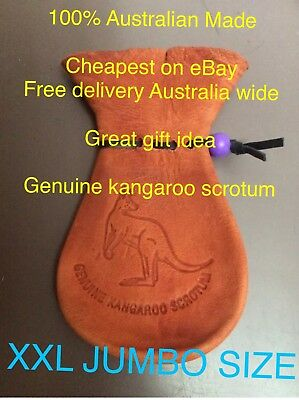 XL JUMBO Size KANGAROO SCROTUM LEATHER COIN GIFT Australian Made