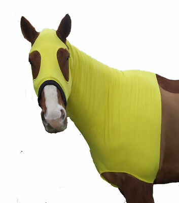 Ecotak lycra skinny hood with bib. Yellow  Ecotak