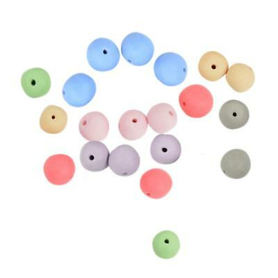 20Pcs Colors Clay Ceramic Porcelain Loose Spacer Beads Jewelry Accessories
