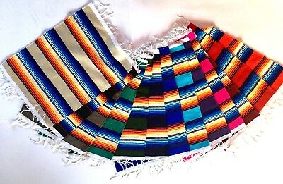 "Serape Placemats Mexican Style Southwest Stripe Colorful Bright  19"" x 13"""