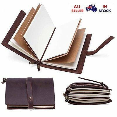 Classic Vintage Journal Bound Notebook Travel Leather Notepad Blank Diary Memo