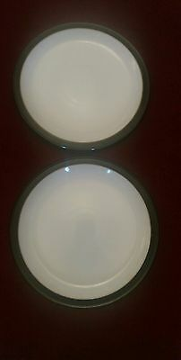 Denby Jet Matt dinner plates 10.25 inches x 2 excellent condition.