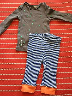 Gorgeous boys outfit, top and leggings Bonds, Seed size 00, 3-6 months, Euc