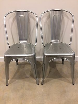Replica Tolix Dining Chairs x 2