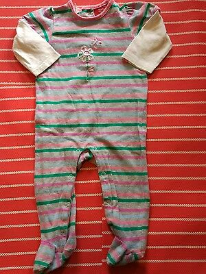 Gorgeous SPROUT baby girl striped romper size 0, 6-12 months Euc