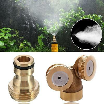 2 Nozzles 1 Nozzle Hose Brass Spray Misting Water Sprinklers Irrigation