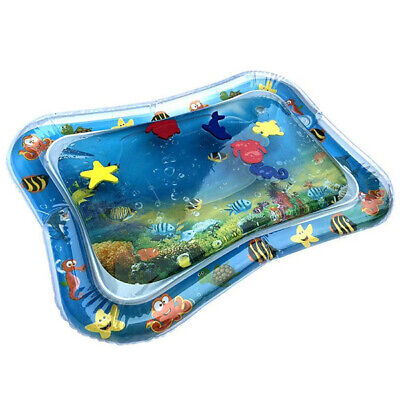 Baby Inflatable Tummy Time Premium Water Mat Pad Cushion For Infants Toddlers