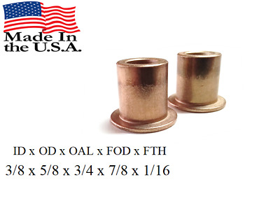 """Discount Bushings Qty 2pc 5//8/""""x 3//4/""""x3//4/"""" Made In USA Flanged SF-2024-12"""