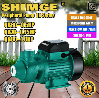 Shimge Electric Peripheral Pump QB60 QB70 QB80 For Clean Water Garden Farm Rain