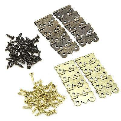 10x Mini Butterfly Door Cabinet Drawer Furniture Jewellery Box Hinges 20mmx17mm