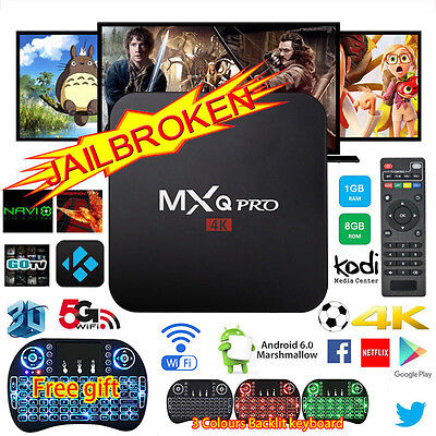 2017 NEW 4K PRO Quad Core Smart Android TV Box Fully Load Media Player Keyboard