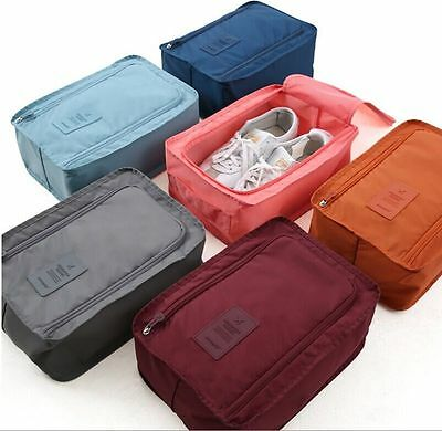 Travel Portable Nylon Shoes Bag waterproof Zip folding Pouch Storage Economy
