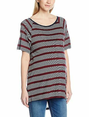 (TG. 38) Dorothy Perkins Stripe Extreme Dip Back, Magliette Premaman (C1w)