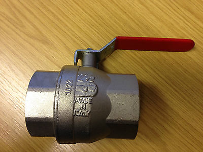 "2.5"" Red Lever BSP Ball Valves Female to Female"
