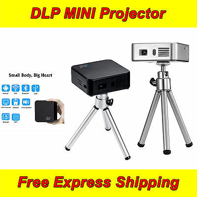 DLP MINI Wireless Portable Projector Android 1080P with USB HDMI VGA Home Office