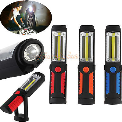 Super Bright COB +LED Rechargeable Inspection Lamp Work Light Torch Magnetic AU