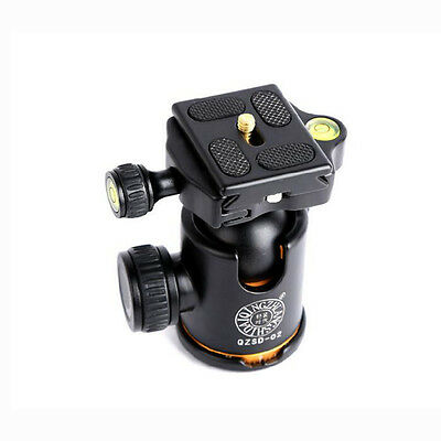 "Tripod Ball Head + Quick Release Plate for DSLR Camera Photo Studio 1/4"" Screw"