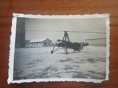 VC - Aviation, ancienne photo avion autogyre  aerodrome de champagne