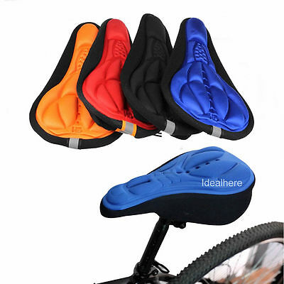 Bike Saddle Silicone Seat Saddle Bicycle Cushion Cover Soft Gel 3D Pad