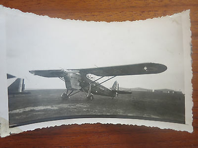 VC - Aviation, ancienne photo avion Mureaux  aerodrome de champagne