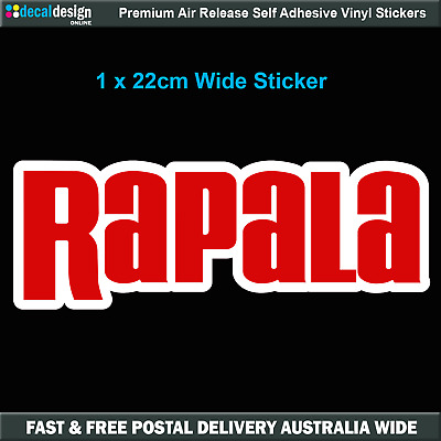 Rapala Sticker x1 Decal suits boat fishing tackle graphics #R006