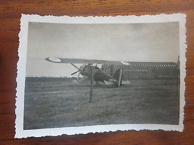 VC - Aviation, ancienne photo avion Morane 225 chasse  aerodrome de champagne