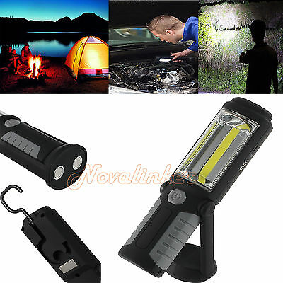 COB+ LED Inspection Work light Magnetic Portable Hand Torch Bright Rechargeable