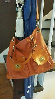 CHARMING CHARLIE LEATHER PURSE Satchel Hobo & Matching Clutch Cosmetic Case