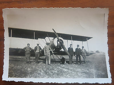 VC - Aviation, ancienne photo avion Henriot ecole  aerodrome de champagne