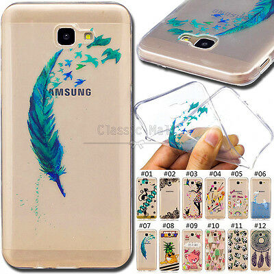 For Samsung Galaxy J7 Prime Cute Painted Back Rubber Soft TPU Case Skin Cover