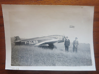 VC - Aviation, ancienne photo avion Farman 355 aerodrome de champagne