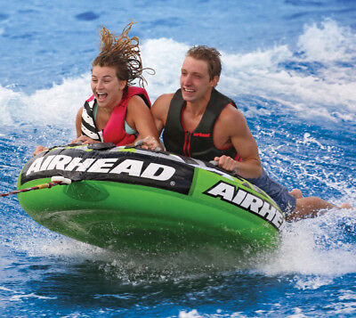 Airhead Slice Double Rider Covered Towable Ringo, Tube, Inflatable Wakeboard