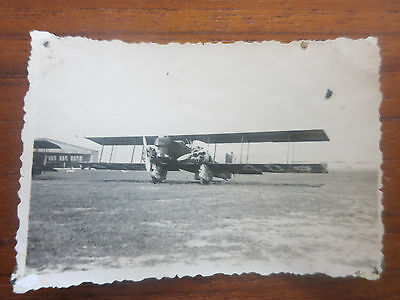 VC - Aviation, ancienne photo avion Loire olivier aerodrome de champagne