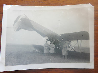 VC - Aviation, ancienne photo avion Potez crash aerodrome de champagne