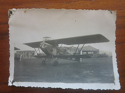 VC - Aviation, ancienne photo avion Potez 25 aerodrome de champagne