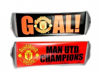 Manchester United Man U Crest Rolling Banner Football Fanbana Goal Red Official
