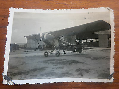 VC - Aviation, ancienne photo avion hangar aerodrome de champagne