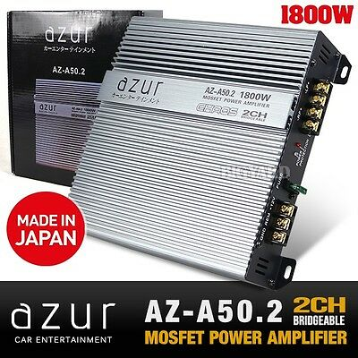AZUR AZ-A50.2 2 Channel Bridgeable Mono MOSFET 1800W RMS Car Amplifier (Japan)